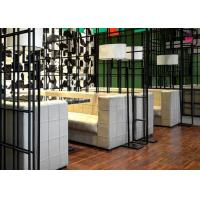 China Square Pattern Hotel Fast Food Restaurant Seating , Custom Restaurant Booths U Shaped on sale