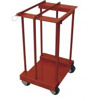 China 4 Gas Cylinder Pallet Rack , Easily Move Compressed Gas Bottle Rack With Caster on sale