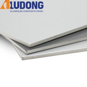 China White Core 6mm Aluminium Composite Panel PVDF Coating on sale