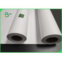 China 40gsm - 80gsm White CAD Marker Paper For Garment Factory Moistureproof on sale