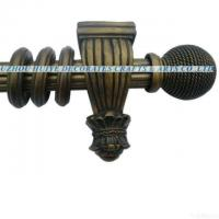 Quality 2011 Hot Selling Design Reeded Curtain Pole With Resin Finials wholesale