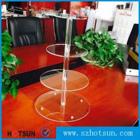Cheap Customized modern style 4 tier round plexiglass cake stand,acrylic cupcake stand wholesale from China for sale