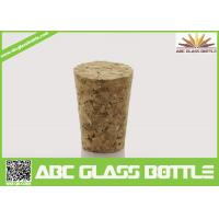 Cheap Wholesale wooden synthetic round small glass bottle wooden cork manufacturers, for sale