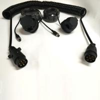 Quality Black Trailer 7 Pin Trailer Extension Cord For Rear View Camera Monitoring System wholesale