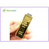 China Creative design Gold Bar USB Flash Drive Memory disk 2GB / 4GB / 8GB / 16GB / 32GB on sale