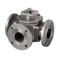 Cheap 300LB T Type Pneumatic 3 Way Ball Valve For Heating Equipment , DN50-DN1200 for sale