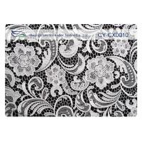 China Eco-Friendly Embroidered Lace Fabric , Nylon Lace Cotton Fabric CY-CX0010 on sale