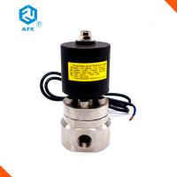 Quality Stainless Steel High Pressure Water Valve , 12V 2 Way High Pressure Steam Valve wholesale