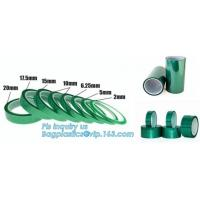 China Green PET High Temperature Silicone Adhesive polyester Tape,Green PET Masking Tape Especially on Liner and Discs bagease on sale