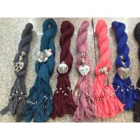 Cheap 2012 Newest Chic Jewelry Scarves with Charms 180CM Necklaces Scarf Mix Color Mix Pendant  for sale