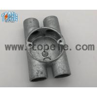 Quality BS4568 Electrical Conduit Fittings Twin Through Way H Malleable Iron Box 20mm -32mm wholesale