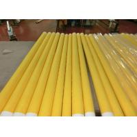 Quality Low Elongation Monofilament Polyester Screen Printing Mesh With White And Yellow wholesale