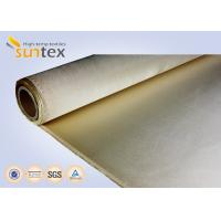 Quality 1.25mm Fire Protection High Temperature Fiberglass Cloth Silicone Coated wholesale
