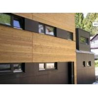 Rustic Insulated Vertical Fiber Cement Siding Board Wood Look FC Cladding
