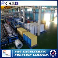 Quality Electrical Eps Sandwich Panel Machine Flat Laminating Line , 7500Kg Roofing Sheets Manufacturing Machine wholesale