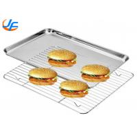 China Aluminium Cookie Sheet Pan And Stainless Steel Cooling Rack Set Oven Safe Pan on sale