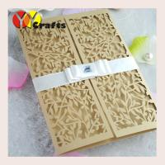 Quality laser cut wedding invitation card folded gate simple add logo for free wholesale