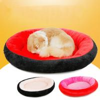 Quality 50~70cm Washable Luxury Soft Cotton Dog Beds Colorful Portable Sofa wholesale