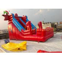China Red Spider Man Big Inflatable Dry Slide Bounce House With PVC Tarpaulin on sale
