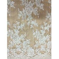 Buy cheap Jacquard Cord Lace Fabric for Wedding Bridal Dress from wholesalers