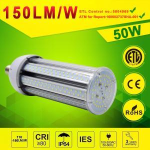 China Waterproof LED Corn light 50W 130lm/w 150lm/w DLC,ETL approval on sale