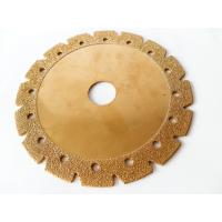 Quality 6 Inch Electroplated Corrugated Teeth Dry Cut Diamond Blade For Granite And Sandstone wholesale