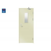 China Fire Rated Glass Glazed Metal 90min Steel Fire Exit Doors on sale