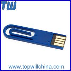 Hotsale Coloful Paper Clip Usb Flash Drive Delicate Design for Gifts