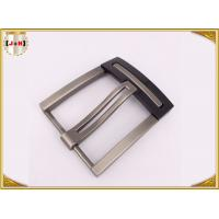 Quality Nickel And Lead Free Silver Plated Double Pin Belt Buckle For Man wholesale