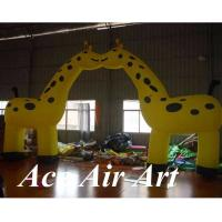 Quality custom various size lovely entrance arch inflatable giraffe arch for party decoration wholesale