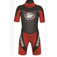 Quality Nylon Neoprene Surf Suit Long Sleeve Shorty Wetsuit Lightweight wholesale