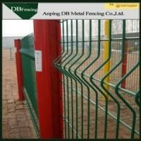 China High Strength Curvy Welded Wire Fence , Plastic Coated Wire Mesh Fencing on sale
