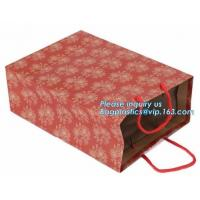 Cheap Luxury Shopping Carrier Thick Blue Kraft Paper Gift Bags With Rope Handles