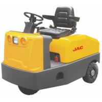 Quality Battery Operated  4 Wheel Platform Truck , Airport Tow Tractor High Range Steering Design wholesale