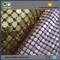 China Fashionable metal sequin fabric for decor and design on sale