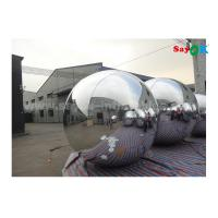Quality Lightweight Silver Dia 2m Inflatable Balloon For Advertising Easy To Carry wholesale