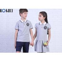 Quality Casual Customized Middle School Uniforms Polo Shirt And Dress wholesale