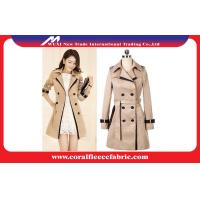 Quality Double Breasted Long Trench Jacket Womens Winter Outerwear , Waterproof wholesale