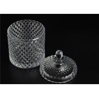 Cheap Elegant White Glass Dome Candle Holder Personalised Glass Jars With Lid for sale