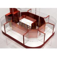 Quality Round Shaped Jewelry Showcase Kiosk / Mall Jewelry Kiosk Wooden 3 Layers Glass Shelf wholesale