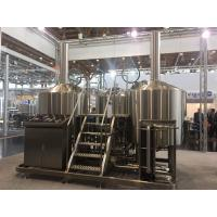 Cheap SUS 304 7Bbl Large Scale Brewing Equipment Semi Automatic Control System for sale