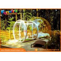 Quality Transparent Igloo Dome Tent / 0.6mm PVC Tarpaulin Inflatable Bubble Tent wholesale