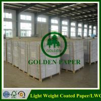 Buy cheap LWC paper/Light weight coated paper made by 100% wood pulp from wholesalers