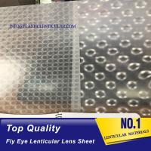 Quality PLASTIC LENTICULAR fly eye lens sheet 3d 360 lenticular lens sheet for decoration packing boxes wholesale