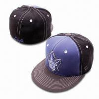 Quality Acrylic/wool Baseball Cap with Flat Peak and Embroidery on Front wholesale