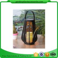 Quality Exterior Rattan Solar Lights , Solar Powered Yard Lights With 2V / 40MA Solar Panel wholesale