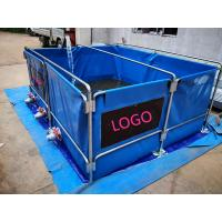 Quality 5000L Flexiable PVC Tarpaulin Water Tank Foldding Fish Tank With Metal Frame wholesale
