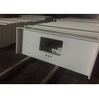 Quality Pure White Quartz Kitchen Countertops , 45 Degree Edge Faux Quartz Countertops wholesale
