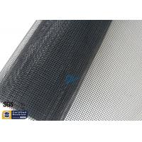Quality PTFE Coated Fiberglass Open Mesh Fabric Black 1MM 260℃ Conveyor Dryer Belt wholesale