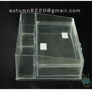 Quality BO (60) acrylic portable jewelry display cases wholesale
